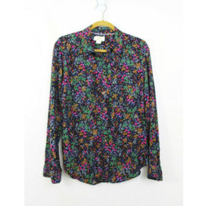 Maeve size 10 Floral Button Down Shirt